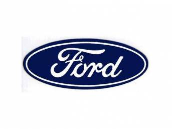 DECAL, FORD SCRIPT, 3 INCH OVAL, BLUE AND