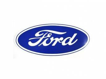 DECAL, FORD SCRIPT, 10 INCH OVAL, BLUE AND