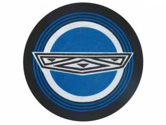 DECAL, EXTERIOR, WIRE WHEEL COVER CENTER,  BLUE