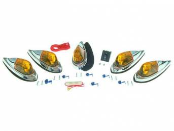 RUNNING LIGHT KIT, CAB ROOF AMBER