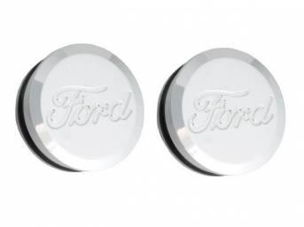 PLUGS, Quarter Rear LIp Roll, Ford script emboss,