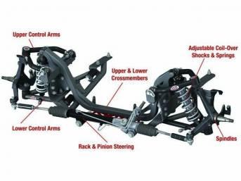 FRONT SUSPENSION SYSTEM, QA1, double adjustable shocks, 500