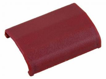 TONGUE COVER, SEAT BELT, RED