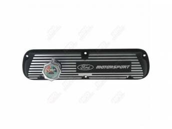 VALVE COVER, ALUMINUM FINNED W/ BLACK *FORD RACING*
