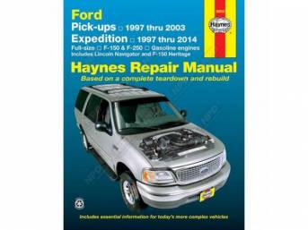 BOOK, HAYNES WORKSHOP MANUAL, 97-03, With a Haynes