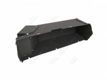 Box, Instrument Panel Glove Compartment, Made Of Same Black Trim Board As Originals, Stapled At Corners And Screw Retainers Installed