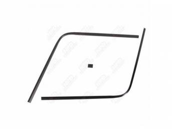 Molding Set, Rear Window, Inner, Black, (3) Piece Set, Does Not Incl Lower Corners Or Lower Section, Us-Made Oe Correct, Repro