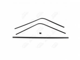 Molding Set, Rear Window, Inner, Black, (4) Piece