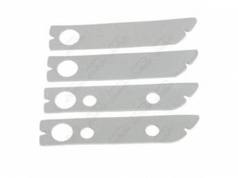 Gasket Set, Side Marker Light, (4) Dense Gray Foam Material As Original