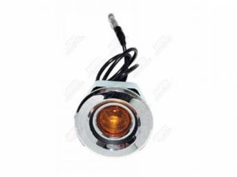 Light Assy Side Marker Front Curved Style Amber
