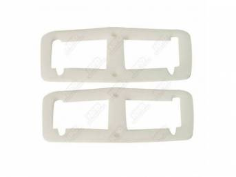 Gaskets, Tail Light Housing, White Foam Material, Seals Tail Light Housing To Body