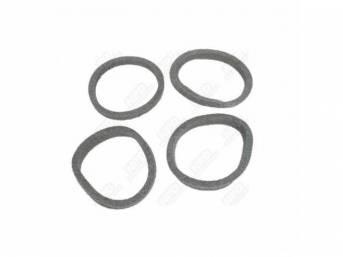 Gasket Set, Tail Light Lens, Round Seals (4),