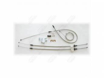 Cable Set, Parking Brake, Complete Set W/ Intermediate