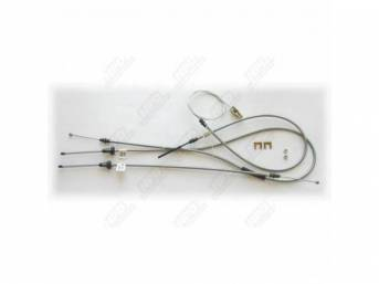 Cable Set, Parking Brake, Complete Set With Intermediate