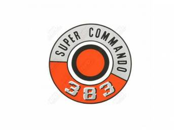 Decal, Super Commando 383, Air Cleaner, Correct Material