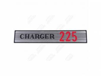 Decal, Charger 225, Air Cleaner, Correct Material And Screen Printed As Original, Officially Licensed Product By Chrysler Llc