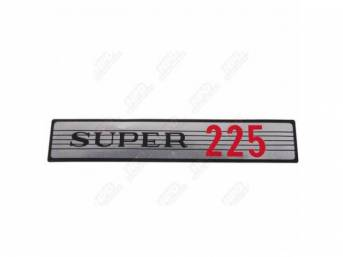 Decal,  Super 225,  Air Cleaner, Correct Material And Screen Printed As Original, Officially Licensed Product By Chrysler Llc