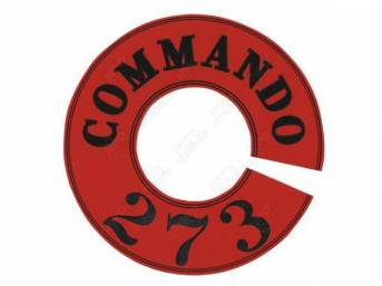 Decal, Commando 273, Air Cleaner, Full Circle, Correct