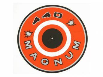 Decal, 440 Magnum, Orange, Air Cleaner Correct Material