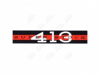 Decal, Super Stock 413, Valve Cover, Correct Material And Screen Printed As Original, Officially Licensed Product By Chrysler Llc