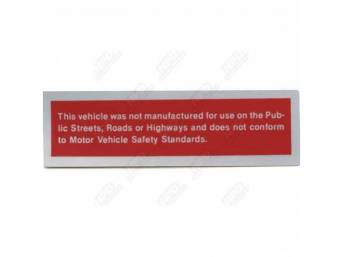 Decal, Door Post Safety Act, Correct Material And Screen Printed As Original, Officially Licensed Product By Chrysler Llc