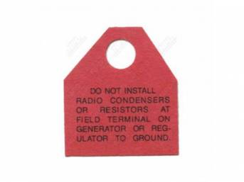 Decal, Generator Terminal Warning Tag, Correct Material And Screen Printed As Original, Officially Licensed Product By Chrysler Llc