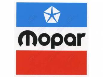Decal, 4 Inch Square Mopar, Correct Material And Screen Printed As Original, Officially Licensed Product By Chrysler Llc