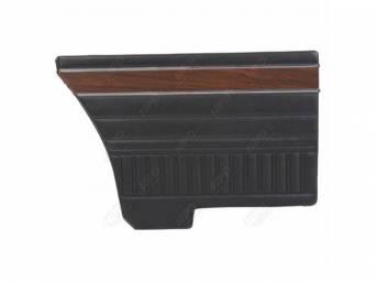 Rear Quarter Trim Panels Black Coachman Grain W/
