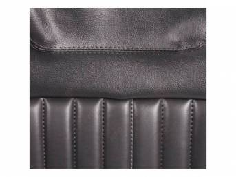 Upholstery Set, Rear Seat, Black, Dlx Style And