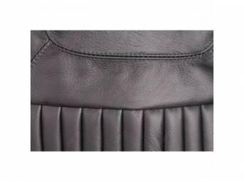 Upholstery Set, Rear Seat, Black, Dlx Style, W/