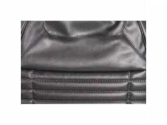 Upholstery Set, Front Buckets, Black, W/ Regal Grain