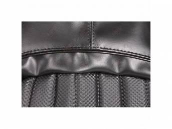 Upholstery Set, Front Buckets, Black, W/ Empire Grain