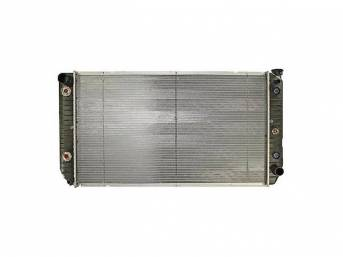 RADIATOR, Replacement Style, brass tanks and copper core,