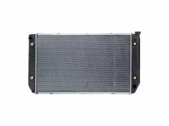 RADIATOR, Replacement Style, plastic tanks and aluminum core,