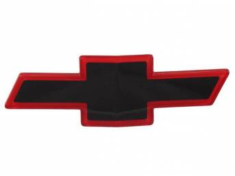 Grille Emblem, *Bowtie*, Black center w/ red surround, GM