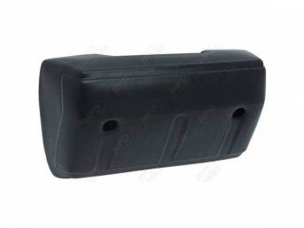 Front Door Arm Rest, Black, RH or LH, repro
