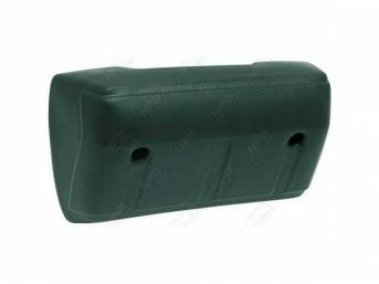 Front Door Arm Rest, Green, RH or LH, repro