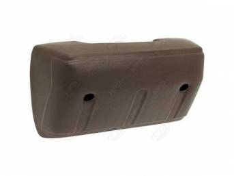 Front Door Arm Rest, Saddle, RH or LH, repro