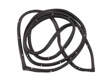 WEATHERSTRIP SET, Side Door Opening, RH and LH, Incl clips, replaces GM p/n LH 3763387 or RH 3763388, repro
