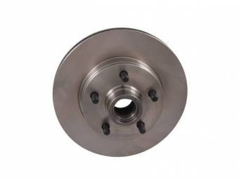 HUB AND ROTOR ASSY, BRAKE, FRONT, RH OR LH