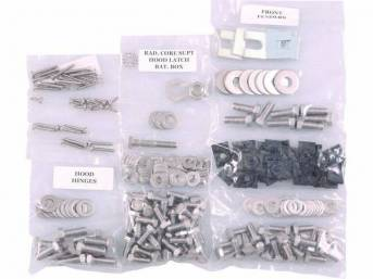 FASTENER KIT, Front Sheetmetal, unpolished stainless steel, features