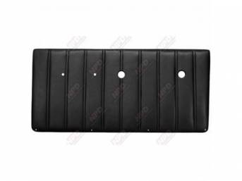 PANEL SET, Front Door, vertical pleat style, black, ABS-plastic, replacement style repro