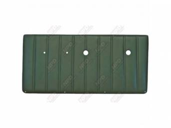 PANEL SET, Front Door, vertical pleat style, OE green, ABS-plastic, replacement style repro