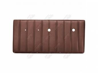 PANEL SET, Front Door, vertical pleat style, OE brown, ABS-plastic, replacement style repro