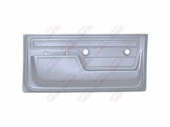 PANEL SET, Front Door, scroll top strip style, phantom white, ABS-plastic, replacement style repro