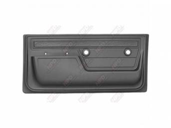 PANEL SET, Front Door, scroll top strip style, presidio gray, ABS-plastic, replacement style repro