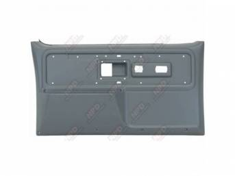 PANEL SET, REPLACEMENT STYLE, PRESIDIO GRAY, FRONT DOORS, W/O POWER WINDOWS OR DOOR LOCKS, ABS PLASTIC, ** ACCEPTS ORIGINAL TRIM INSERTS **