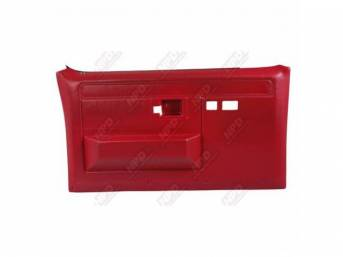 PANEL SET, Front Door, Portola Red / Bright Red, w/ power windows and power locks, does not include armrest pads or trim package (see p/n K-16155D-81 for pads, p/n K-DPRM-X / K-DPRM-Y for trim package), ABS-plastic, replacement-style repro