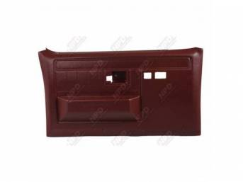 PANEL SET, Front Door, Burgandy, w/ power windows and power locks, does not include armrest pads or trim package (see p/n K-16155D-81 for pads, p/n K-DPRM-X / K-DPRM-Y for trim package), ABS-plastic, replacement-style repro