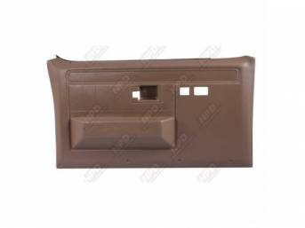 PANEL SET, Front Door, Saddle Tan, w/ power windows and power locks, does not include armrest pads or trim package (see p/n K-16155D-81 for pads, p/n K-DPRM-X / K-DPRM-Y for trim package), ABS-plastic, replacement-style repro